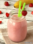 草莓香蕉酸奶冰沙 Strawberry Banana Yogurt Smoothie