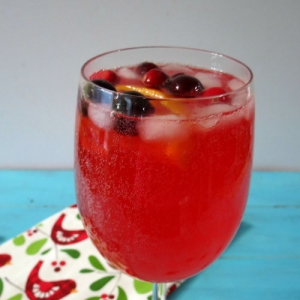 蔓越莓橙汁汽酒 Cranberry Orange Spritzer